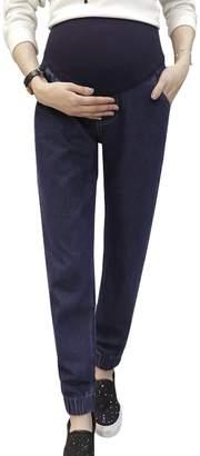 ZENICHAM Women's Winter Jeans For Pregnant Women
