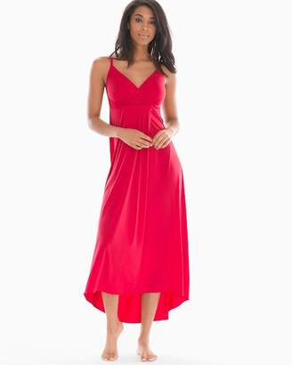 Drapesoft Jersey Tulip Sleeveless Nightgown Red