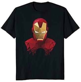 Marvel Iron Man Geometric Prism Shape Art Graphic T-Shirt