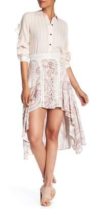 Vintage Havana Printed Hi-Lo Skirt