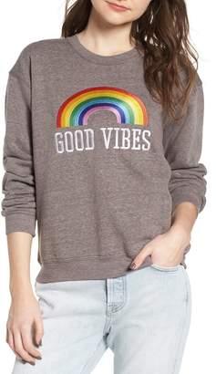 Sub Urban Riot Sub_Urban Riot Good Vibes Rainbow Sweatshirt