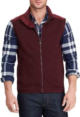 Chaps Mockneck Zip-Front Fleece Vest