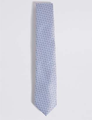 Marks and Spencer Pure Silk Fan Motif Tie