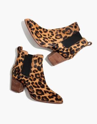 Madewell The Regan Boot in Leopard Calf Hair