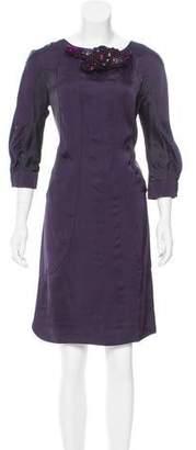 Valentino Embellished Silk Dress w/ Tags