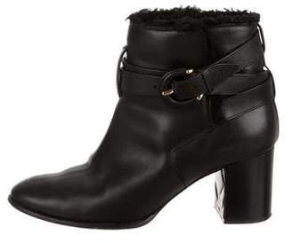 Burberry Shearling-Trimmed Ankle Boots
