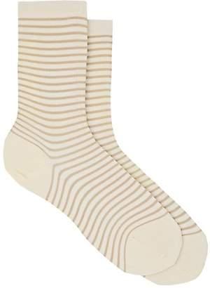 Antipast Women's Striped Cotton-Blend Mid-Calf Socks