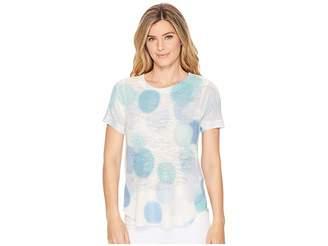 Nally & Millie Blue Bubble Short Sleeve Top Women's Short Sleeve Knit