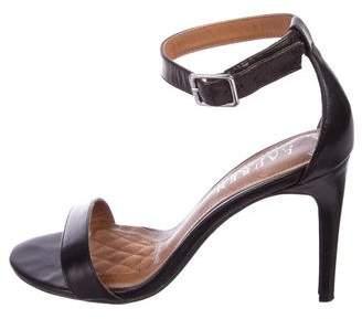 Lauren Ralph Lauren Leather Ankle Strap Sandals