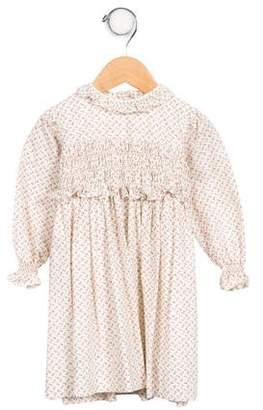 Papo d'Anjo Infant Girls' Floral Print Long Sleeve Dress