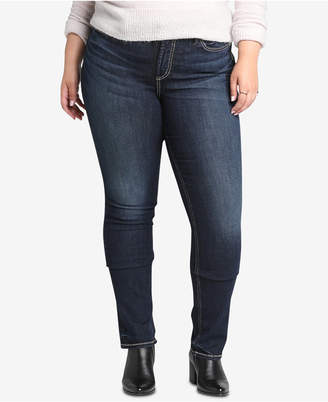 Silver Jeans Co. Plus Size Avery High-Rise Curvy-Fit Straight Jeans