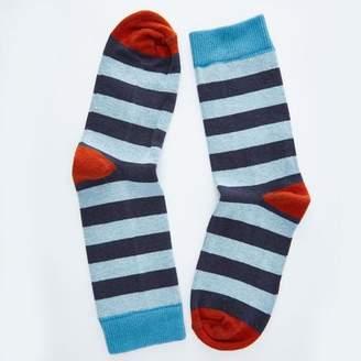 Blade + Blue Blue, Aqua & Orange Rugby Stripe Socks