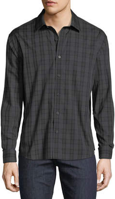 Neiman Marcus Men's Regular-Fit Untuck Check Sport Shirt
