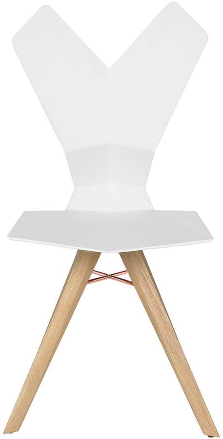 Tom Dixon - Y Chair, Weiß / Eiche natur