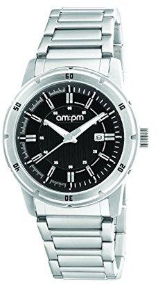 Am.pm. Am : Pmユニセックスpg119-u096スチールケーススチールブレスレットクォーツ腕時計