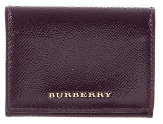 Burberry Coated Leather Compact Wallet