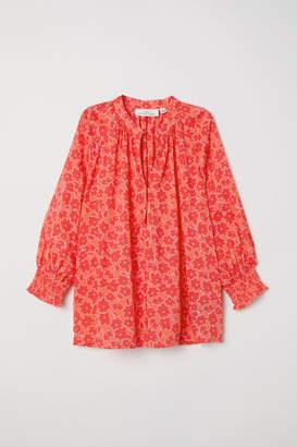 H&M V-neck Modal Blouse - Red