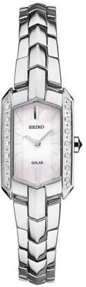 Seiko Women's Solar 14 Diamond Tressia Dress Watch