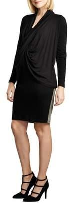 Maternal America Front Drape Nursing Dress