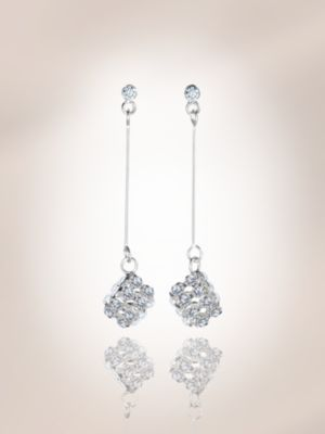 City Bright Collection - Crystal Square Drop Earrings