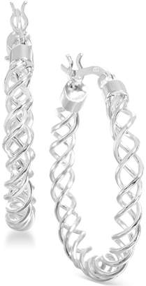 Giani Bernini Medium Sterling Silver Spiral Hoop Earrings, 1.2""