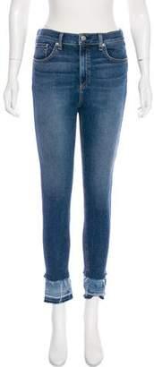 Rag & Bone High-Rise Distressed Jeans