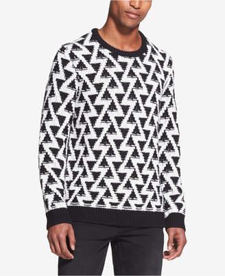 DKNY Men's Triangle Stitch Sweater