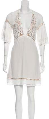 For Love & Lemons Lace-Accented Mini Dress w/ Tags