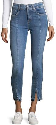 7 For All Mankind Women's Vented Cuff Ankle Jeans