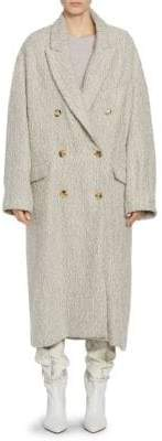 Isabel Marant Habra Tweed Double-Breasted Coat
