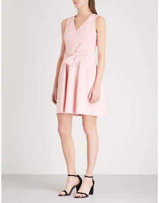 Claudie Pierlot Bow-embellished crepe dress