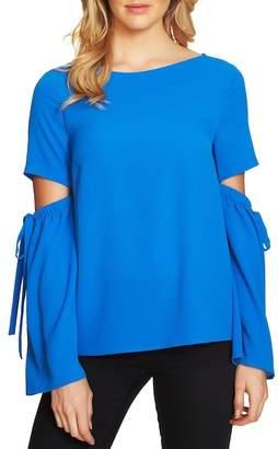 Cynthia Steffe CeCe by Split Cutout Sleeve Bow Top