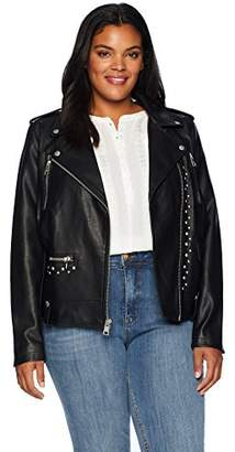 58a13625f62 Levi s Size Women s Plus Faux Leather Studded Motorcycle Jacket