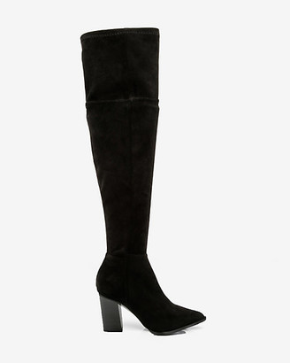 Le Château Pointy Toe Thigh High Block Heel Boot