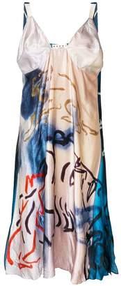 Marni contrast back painting dress