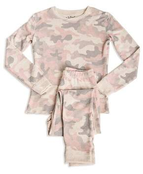 PJ Salvage Girls' Camo-Print Pajama Shirt & Pants Set - Little Kid
