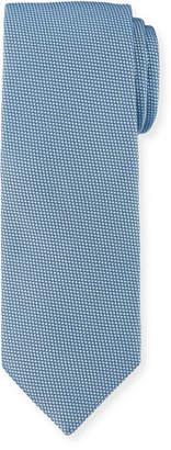 BOSS Solid Dot-Textured Silk Tie