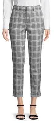 Lord & Taylor Plus Kelly Plaid Ponte Ankle Pant