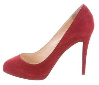 Christian Louboutin Suede High-Heel Pumps