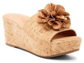 Kenneth Cole Gentle Souls by Forella Flower Cork Wedge Sandal