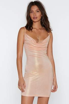 Nasty Gal Dripping in Gold Cowl Dress