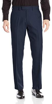 Kenneth Cole Reaction Men's Birdseye Weave Modern Fit Plain Front Dress Pant