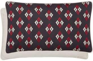 Amaya Bedeck 1951 - Dark Grey Cotton 'Amaya' Embroidered Cushion