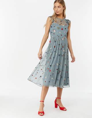 Monsoon Billie Embellished Midi Dress