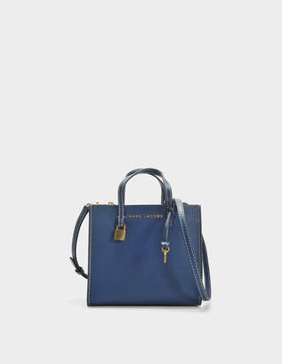 Marc Jacobs The Mini Grind Tote Bag in Blue Sea Cow Leather