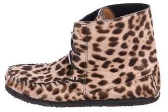 Etoile Isabel Marant Ponyhair High-Top Sneakers