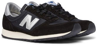New Balance National Class Suede, Nylon and Leather Sneakers