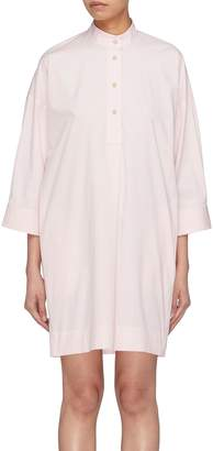 Elizabeth and James 'Fulton' mandarin collar half button placket shirt dress
