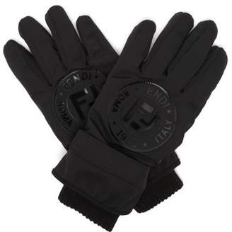 Fendi Logo Ski Gloves - Womens - Black