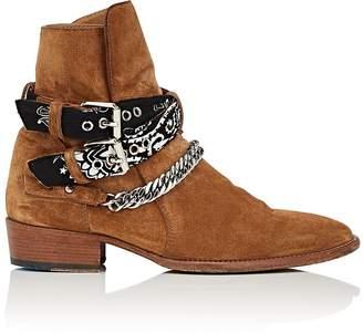 Amiri Men's Bandana-Strap Suede Jodhpur Boots